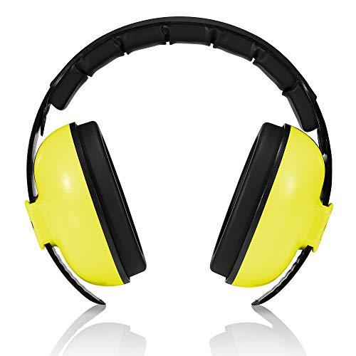 Roynoy - protection auditive bébé de 0-2 ans. cache-oreilles de bruits pour bébé - protection bruit bébé - Bleu et rose, jaune