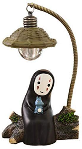 HUANXI Spirited Away No Face Man Night Light Chi to Chihiro Lmpara de Escritorio Mesa Miyazaki Hayao Anime Kaonashi Regalo para nios Juguete para nios Decoracin del hogar Lmpara de sueo,01