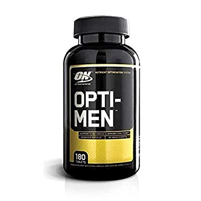 OPTIMUM NUTRITION Opti-Men Daily Multivitamin Supplement, 180 Count by Glanbia Performance Nutrition