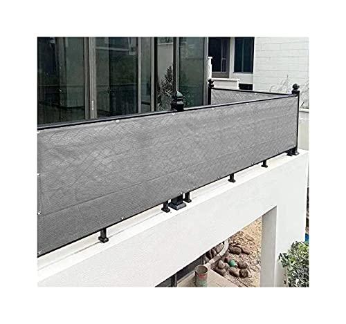 MALSWDJX PROTECCIÓN DE Vista DE YANGTACE, Balcón -Viento y protección Ultraviolet Mat Protección, Incluyendo Cuerdas y Corbata (Color : Gray, Size : 60x400cm)