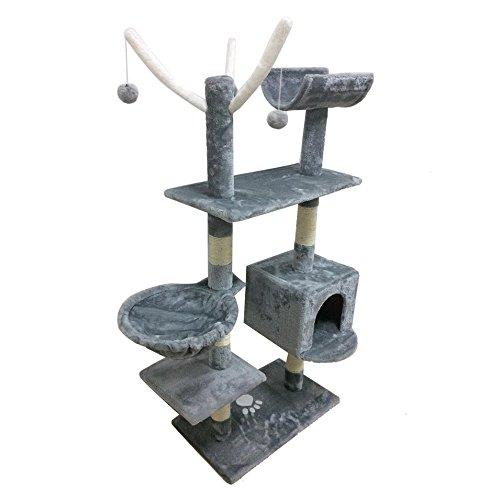 homgrace Kratzbaum für Katzen, Katzenbaum Spiel Spielzeug Geschenk für Haustiere,...