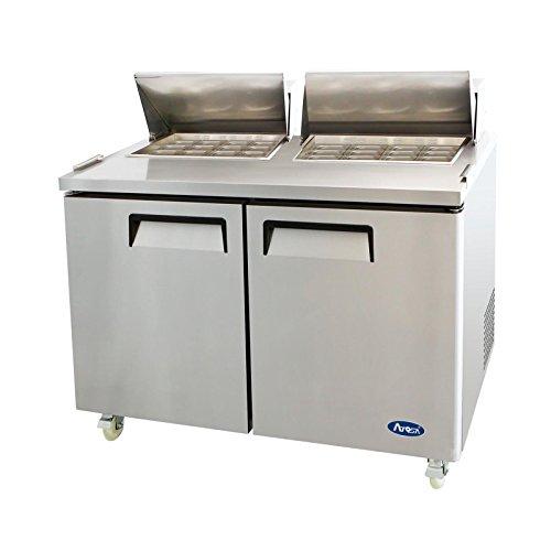 Atosa MSF8307 Stainless Steel Mega Top Sandwich Prep Table 60' 2-Door Fridge