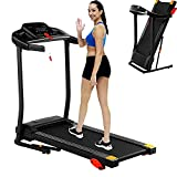 Treadmill,Treadmills for Home, Max 2.25 HP Folding Incline Treadmills for Running and Walking Jogging Exercise with 15 Preset Programs, Tracking Pulse, Calories - 2021 Updated Version