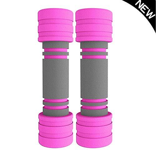 Hanteln Hantel Gewicht Für Arme Und Hände Pilates Gym Für Zu Hause Und Im Fitnessstudio Training Workout,Pink-1kg*2