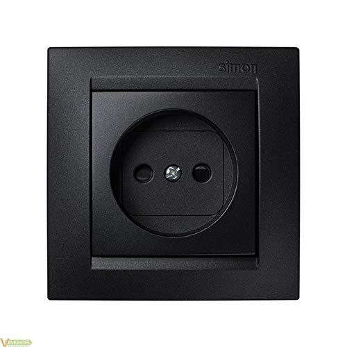 Simon Base Enchufe Electrico 45X80X80Mm Bipolar Empotrar Grafito, 0
