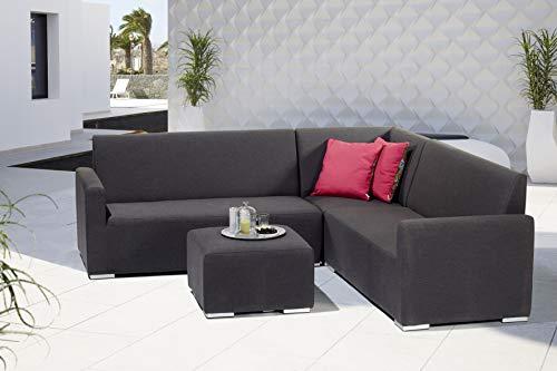 Gardissimo Wetterfeste Outdoor Sunbrella Eck Lounge Tias Black