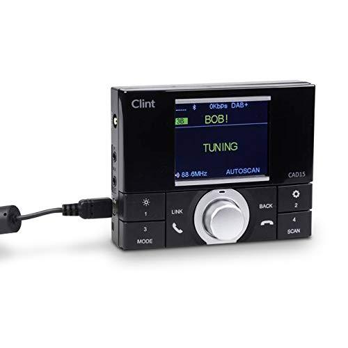 Clint In Car DAB Digitale Radio Adapter - FM-zender - Bluetooth Audio - Handsfree Kit