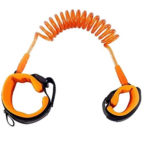 Fácil de transportar y durable cuerda Anti-Perdida niño con la tracción correa de seguridad del niño del bebé pulsera anti-perdida Loss Prevention contra la pérdida de la correa ( Color : Orange 2m )