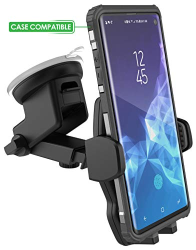 Encased Galaxy S8/ S9/S10/S20 Plus Car Mount (Case Friendly) XL Vehicle Phone Holder - Fully Adjustable Windshield & Dashboard Mount