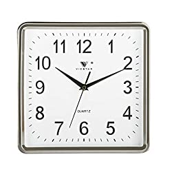 zsqebd Wall Clock 10Inch Living Room Bedroom Simple Square Silent Wall Clock, E