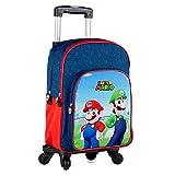 Toy bags- Super Mario y Luichi Juguetes, Color Azul y Rojo, Grande (T963-830)