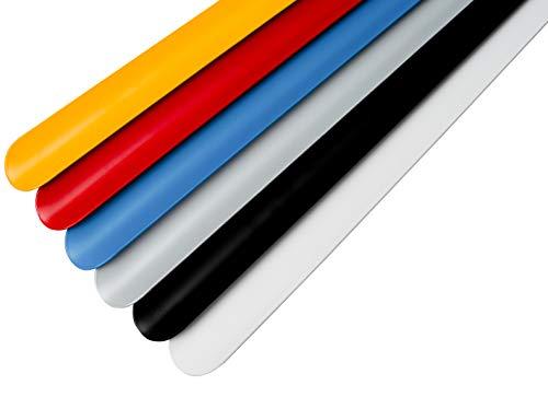 HorstHermann XXL 75cm Hochwertiger Schuhlöffel/Schuhanzieher Extra lang aus Metall | 2mm stark | Nicht biegbar und Äußerst stabiler Schuhlöffel - Weiß