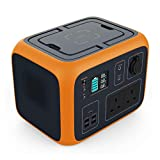 POWEROAK Portable Power Generator 500Wh Solar Power Station Lithium Battery Power Supply 220V-240V with UK Plug, Wireless Charging LED Flashlights for Camping Travel CPAP Emergency, Quiet and Compact