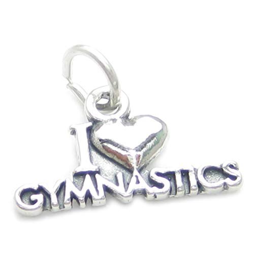 Ich liebe, 925 Gymnastik Sterlingsilber 1 x Turners charms Athleten CF4706