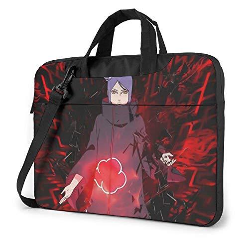 Laptop Crossbody Messenger Bag, Nar-uto Akatsuki Konan Red Cloud Poster Bookbag Computer Carrying Case