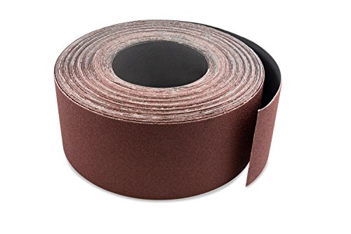 Red Label Abrasives 3 Inch X 70 FT 120 Grit Woodworking Drum Sander Strip Roll, Cut to Length