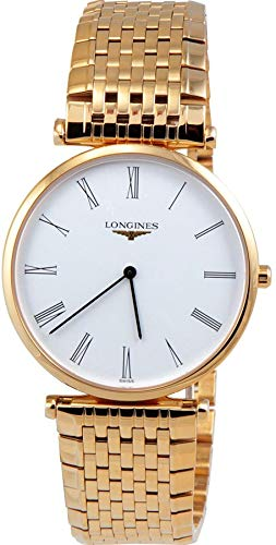 Longines La Grande Classique White Dial Yellow Gold Plated Unisex Watch L4.709.2.11.8