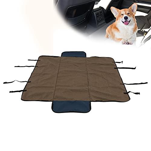 Auto-achterbankmat, auto-huisdierhoes Praktisch Handig en gemakkelijk voor bescherming van autostoelen(brown)