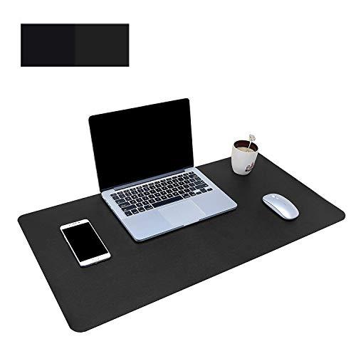 Ewolee - Protector de escritorio para oficina, 90 x 45 cm, extragrande, protector de escritorio, alfombrilla para ratón, resistente al agua, para oficina y hogar, color negro