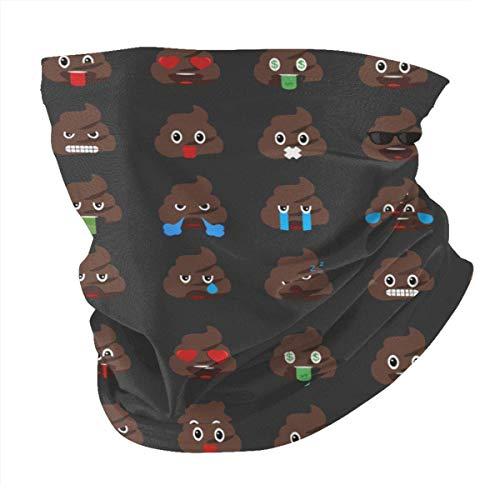 Dydan Tne Cara emoticonos de Caca Varios pañuelos pasamontañas Bandanas Calentador de Cuello