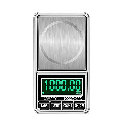 Anself Balança digital portátil Balança de jóias de ouro Mini bolso Balança digital profissional Balança eletrônica precisa Balança de precisão 1 kg / 0.1g DH-938C
