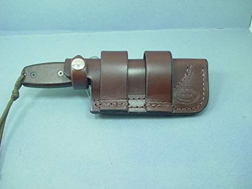 Cheapest Prices! Custom Made Ontario Rat 3 or Esse 3 Horizontal Knife Sheath Made Out of 9 0z. Leath...