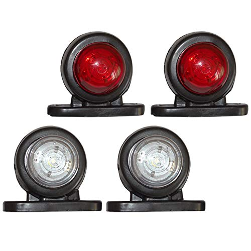 4 x LED Mini Begrenzungsleuchten Positionsleuchten Markierung 12V 24V Volt LKW PKW KFZ Anhänger