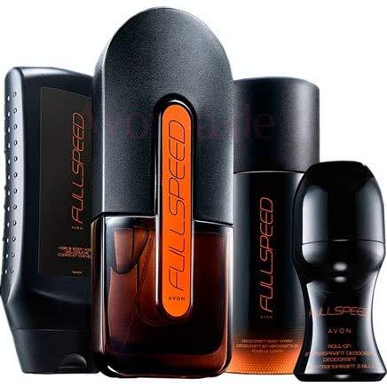 Avon Full Speed Parfum-Set 4 tlg. männlich - explosiv -Wodka/Wacholder/Moschus/Nitroakkorde