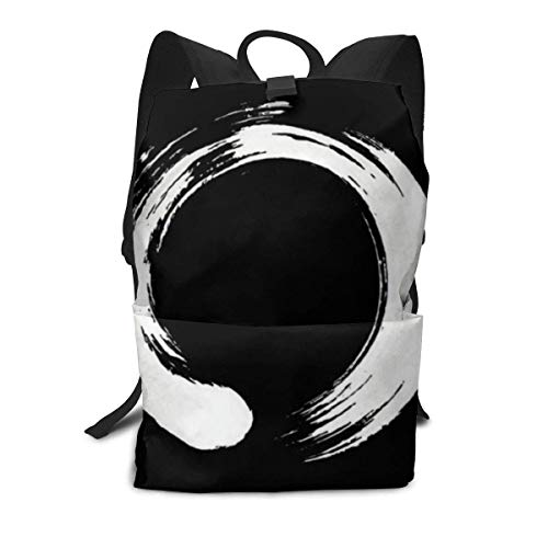 Unisex Backpack, Enso Circle Fcdbbabbbac Art College Students Bookbags Travel Computer Notebooks Daypack School Outdoor Shoulder Bag Daypack