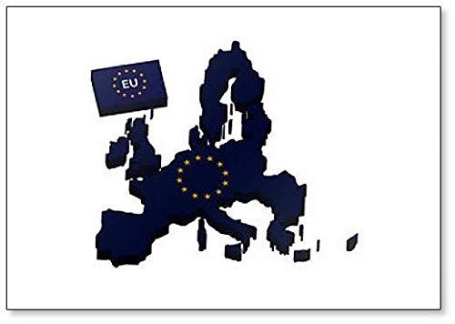 Kaart van de Europese Unie Classic Koelkast Magneet