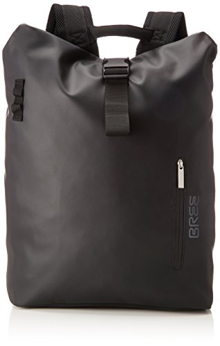 BREE Collection Unisex-Erwachsene Pnch 713, Backpack M Rucksack, Schwarz (Black), 15x42x34 cm