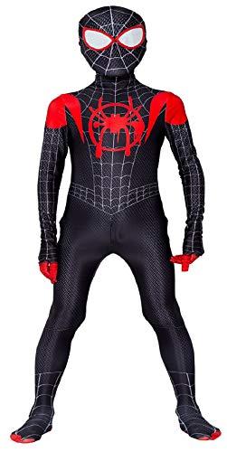 Miscoloor Deguisement Spiderman Enfant, Costume Spiderman Enfant d'impression 3D avec Masque Spiderman comme Un Vrai Spiderman pour Halloween Karneval Party Cosplay