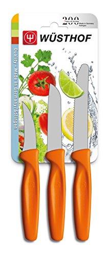 Wüsthof TR9333O Colors Set de 3 Couteaux avec Manche Orange