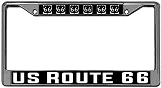 Toanovelty US Route 66 Metal Car Licence Plate Covers Mother Road Stainless Steel Car tag Frame