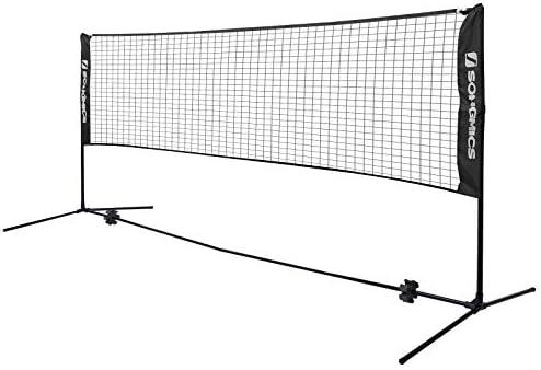 SONGMICS Badminton Net Set Portable Sports Set for Badminton Tennis Kids Volleyball Pickleball product image