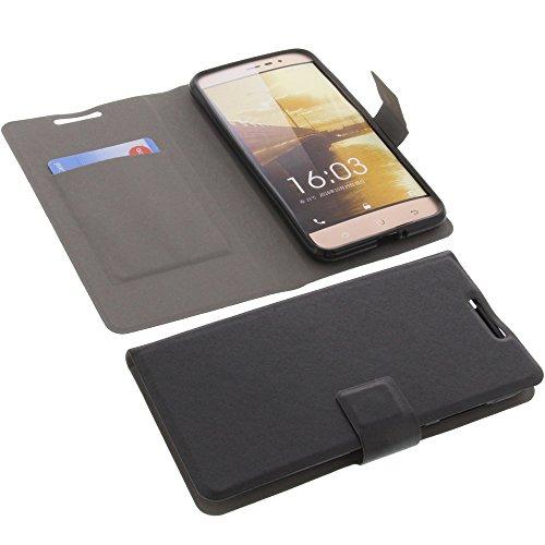 foto-kontor Tasche für Blu Vivo 5 Gummi TPU Schutz Handytasche schwarz