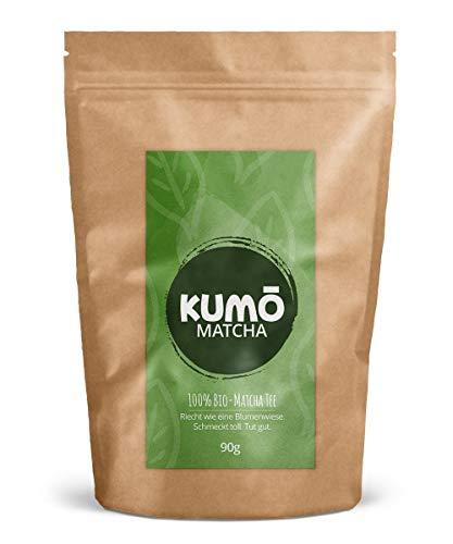 Bio-Matcha-Tee (90g) - für Matcha-Tee, Matcha-Latte, Cooking, Smoothies - 90g hochwertigstes Bio Matchapulver - 100% Bio - aus nachhaltigem Anbau - Abgefüllt und kontrolliert in Deutschland