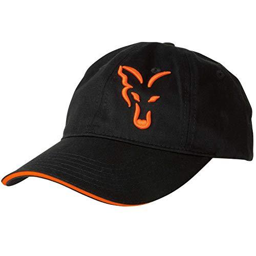 FOX Black/Orange Baseball Cap - Anglercap für Karpfenangler, Cappy für Angler, Anglermütze, Angelmütze, Schirmmütze Sonnenschutz