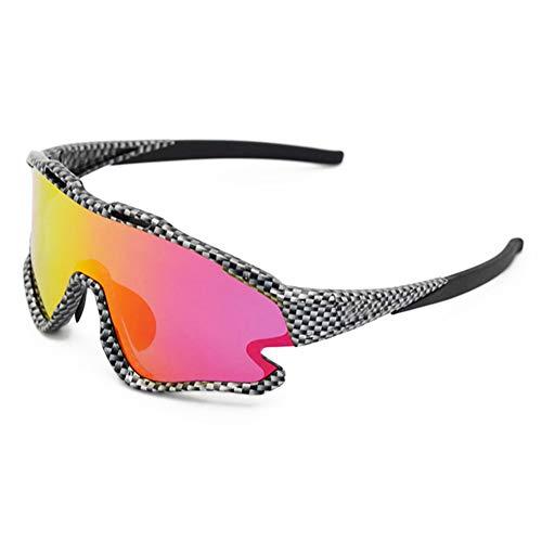 Gafas Sol Polarizadas con 4 Lentes Intercambiables para Ciclismo Bicicleta Running Deportes Protección UV 400 Anti Viento para Hombre Y Mujer, Cuadro Ultraligero TR90,7