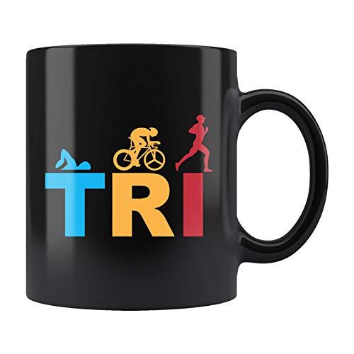 Taza de triatlón, regalo de triatlón, regalo de triatlón, regalo de triatlón, regalo de nadador, taza de corredor de pista, regalo de ciclista, regalo para ciclistas, regalo de campo de pista