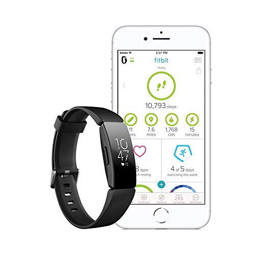 Fitbit Inspire HR Health & Fitness Tracker with Auto-Exercise Recognition, 5 Day Battery, Sleep &Swim Tracking, Black