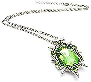 Legisdream Película Verde del Collar de Cristal de El Mago de Oz de la Joya de la Bruja de la Novia Festival West Mujer Re...
