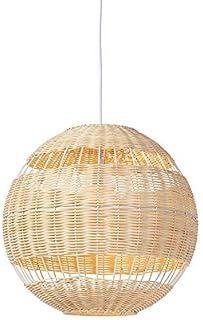 QAZQA Art Déco Lámpara colgante rústica mimbre - RATTAN Ratán/Bamboo Redonda Adecuado para LED Max. 1 x 40 Watt