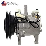 PANGOLIN 3C581-97590 447220-6771 Air Conditioning Compressor M108S M5040 M7040 SVO7E AC Compressor Air Conditioner Compressor with Pressure Switch for Kubota M8540 M9540 Tractor Aftermarket Parts