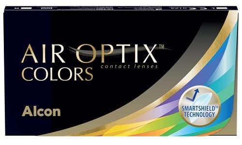 Air Optix Colors Brilliant Blue Monatslinsen weich, 2 Stück / BC 8.6 mm / DIA 14.2 mm / +6 Dioptrien