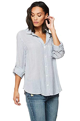 Velvet Heart 'Elisa' Women's Contemporary Button Down Top; Rolled Sleeves, Printed, Lightweight. an Instant Classic!