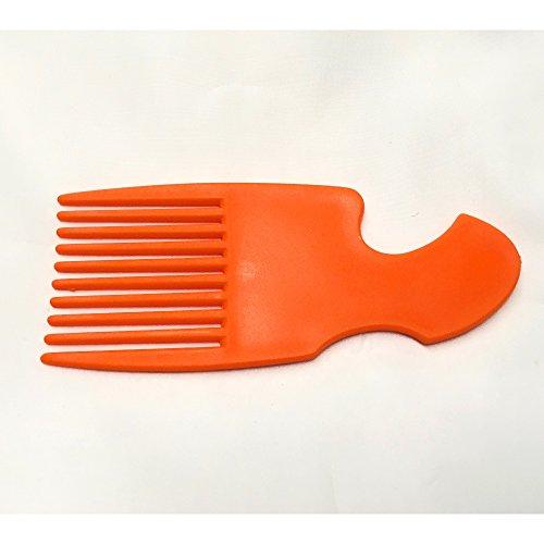 The Home Fusion Company Afro Peigne Démêle Brosse de Cheveux Couleurs Rouge Orange Rose & Jaune - Orange