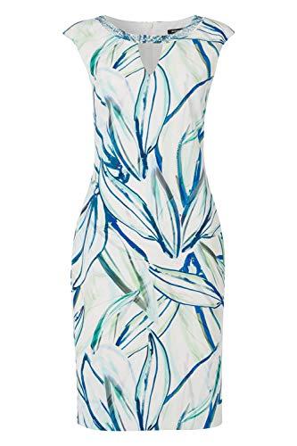 Roman Originals dames scuba-jurk met sleutelgatuitsnijding en versiering - dames jurken, vleugelarm, elegant, casual, kantoor, vakantie, glitter, avonds, formele gelegenheden