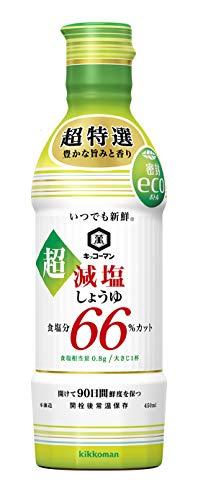 キッコーマン食品 いつでも新鮮 超減塩しょうゆ 食塩分66% カット 450ml ×3本