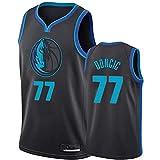 DIMOCHEN Movement Ropa Jerseys de Baloncesto para Hombres, NBA Dallas Mavericks 77# Luka Dončić, cómodo, Camiseta Uniformes Deportivos Tops(Size:L,Color:G1)